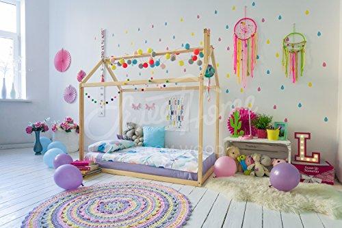 Montessori casa cama. Se incluyen listones madera
