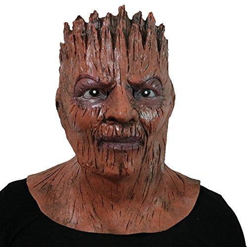 Guardians of the Galaxy Groot Treant woses ents tree man Ent Baum Mann Braun Maske mask Kopf aus sehr hochwertigen Latex Material mit Öffnungen an Augen Halloween Karneval Fasching Kostüm Verkleidung für Erwachsene Männer und Frauen Damen Herren gruselig Grusel Zombie Monster Dämon Horror Party Party