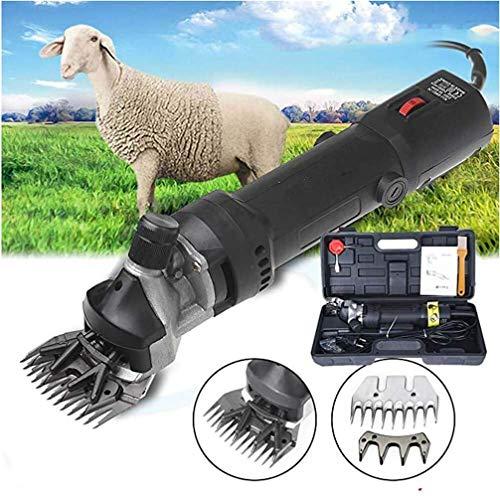 Yeying123 Poderosas Tijeras eléctricas para esquilar Podadoras Tijeras Lana Animal Ovejas Cortar Cabra Alpaca Mascotas Trimmer Granja Máquina Lana Fader Tijeras eléctricas, 690W,A