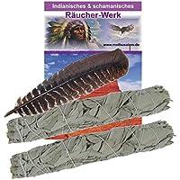 Schamanisches Lakota Dakota Indianer Räucherwerk 5-tlg. Räuchersortiment #81057 | 2 x XXL White Sage Salbei Smudge-Stick... preisvergleich bei billige-tabletten.eu
