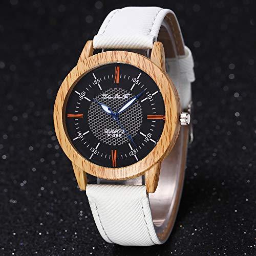 squarex Nature Holzuhr Minimalistische Uhr Bambus Denim Fashion Cool, Damen, a, AS Show - 2