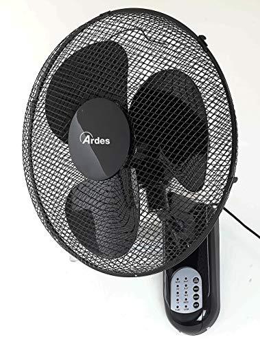Ardes AR5W40R Ventilateur Mural Cool RC oscillant à Mur, Pelle 40 cm, avec télécommande, 3 Niveaux de Vitesse, minuterie, Mode Nuit