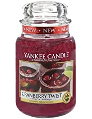 Yankee Candle 1342501E Bougie parfumée senteur Canneberge Twist en jarre Violet