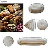 Idea High Shenhong una varietà di modelli impasto rattan cestino tondo pane pasta Banneton Proofing Proving fermentazione Country Baskets: XXXL