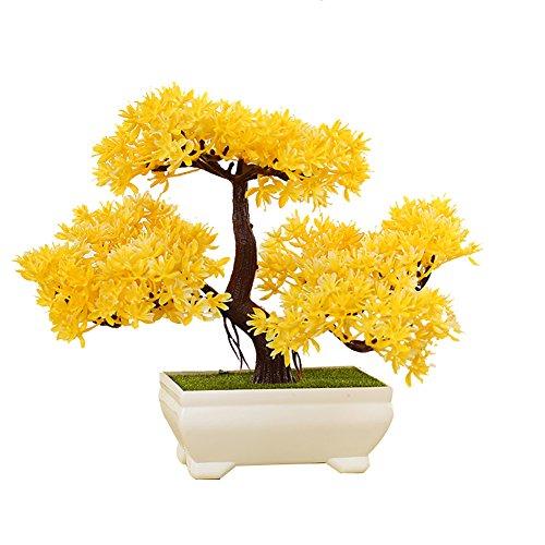 Künstliche Bonsai Baum Kunstpflanze Pflanze,Dekoration Wohnung Modern Pinien,Feng Shui Japanische Deko,Kunstbaum,Höhe ca. 20 cm