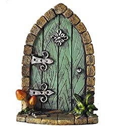 Decoración para árbol de jardín, diseño de en forma de puerta de duende, elfo o hada, accesorio extravagante y divertido, 9 cm de alto