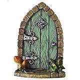 Porta in miniatura per folletti, elfi e fate, decorazione da casa e da giardino, ornamento per regalo particolare e divertente, altezza 9 cm