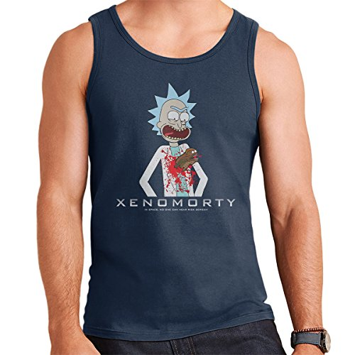 Chestburster Xenomorty Rick And Morty Alien Men's Vest Navy Blue