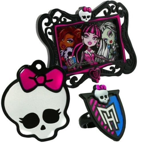 Preisvergleich Produktbild Monster High Tortendeko-Set, mit Bilderrahmen und Dekoring, 3-teilig