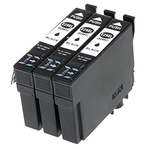 Preisvergleich Produktbild 3er Set EasyInk Druckerpatronen zu EPSON T2991XL Black für Epson Expression Home XP-332, Expression Home XP-335, Expression, Expression Home XP-432, Expression Home XP-435