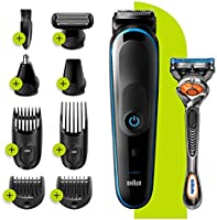 Braun 9-in-1 All-in-one Trimmer 5 MGK5280, Beard Trimmer for Men, Hair Clipper and Body Groomer with AutoSensing...