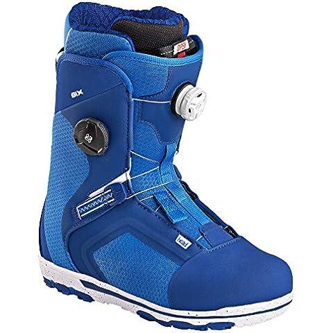 Head Six Boa Focus–Botas para snowboard, color azul, tamaño 45