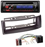 caraudio24 Pioneer DEH-S110UBB 1DIN AUX MP3 CD USB Autoradio für Renault Megane Scenic bis 03 schwarz