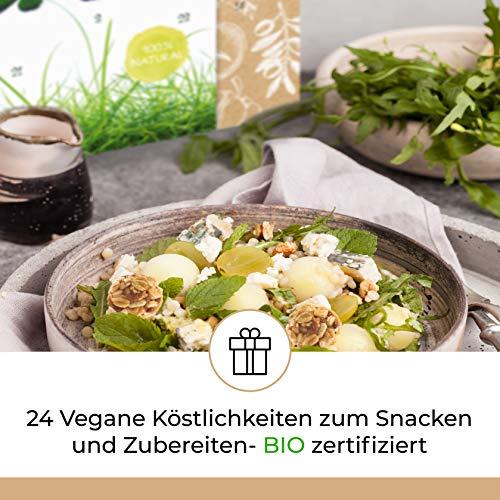 Bio VEGAN Advent-Kalender I veganer Weihnachtskalender mit 24 Überraschungen! Ausgefallener Adventskalender für Erwachsene Adventskalenderideen ohne Tierprodukte - 2