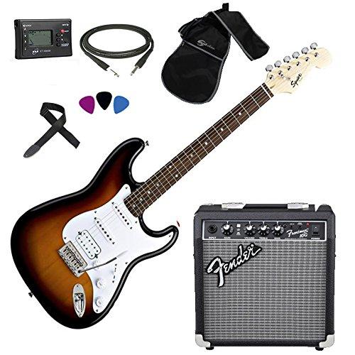 fender-squier-stratocaster-sb-hss-kit-chitarra-elettrica-amplificatore-fender-frontman-10g-accessori