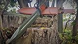 AK-47 CCCP Kampfmesser- klassisches Militär Bajonett - Seitengewehr Leder-Gürteltasche ;Edelstahl , Klinge gestanzt mit : AK47 CCCP ! NEU ! OVP ! Jagdmesser 34 cm