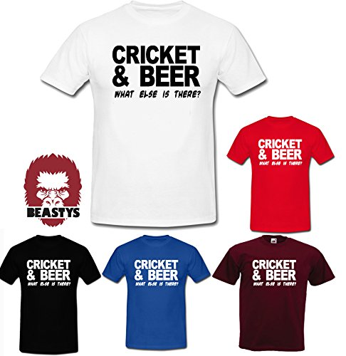 cricket-and-beer-what-else-sports-cool-joke-Funny-T-Shirt-Unisex-5-Colours