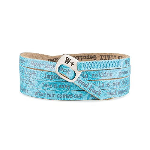 WE POSITIVE SPECIAL BLACK FRIDAY 50% OFF ARMBAND PRINTED TRENDY COL. AZZURRO 236