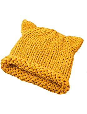 Babybekleidung Hüte & Mützen Longra Baby Süß Winter Kinder Baby gestrickt Wolle niedlichen Hut Hüte Mütze (12-...