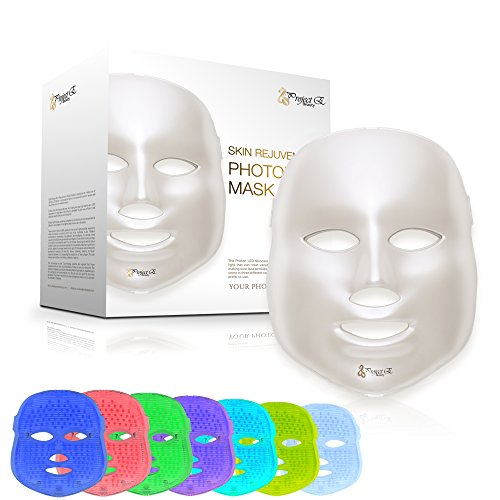 Project E Beauty LED Photon Therapy 7 Color Light Treatment Skin Rejuvenation Whitening Facial Beauty Daily Skin Care Mask