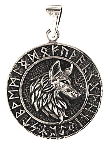 Kiss of Leather Anhänger Wolfskopf aus 925 Sterling Silber Nr. 352