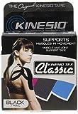 Kinesio Tape Classic Einzelrolle - Botiquín de primeros auxilios para barcos, color negro, talla 5 x 400 cm