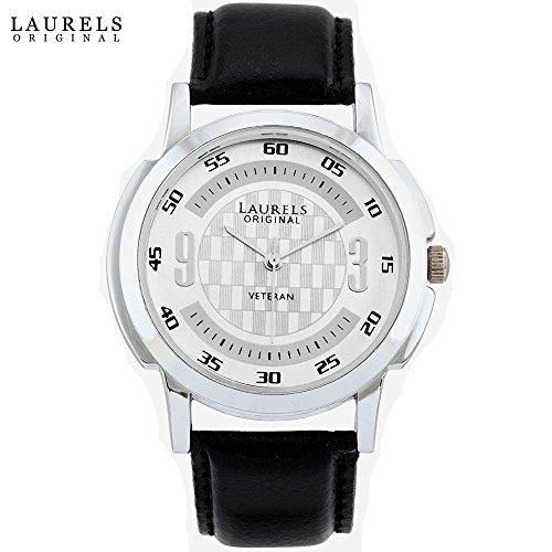 Laurels Black Men's Wallet,Watch And Belt Combo