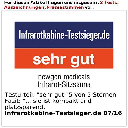 Newgen Medicals Kompakt Infrarot-Sitzsauna - 6