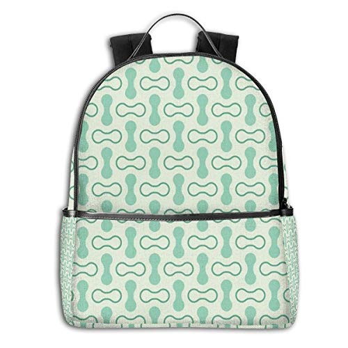 Sacs à Dos Loisir, Sacs à Dos et Sacs de Sport, College Backpacks for Women Girls,Sketchy Revival Skull Figure Big Red Heart Crossed Bones Wings and Leaves,Casual Hiking Travel Daypack