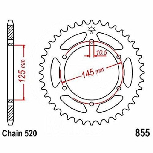 Preisvergleich Produktbild jtSprockets Kettenrad Yamaha MT-03 H 2006-2014 45 Zähne 520 JTR855.45