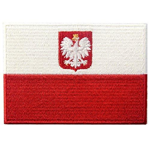Kostüm Polen - Polen Flagge Fahne gestickte Schlucken Vogel Emblem Polish Eisen auf Sew auf Surrealismus National Patch