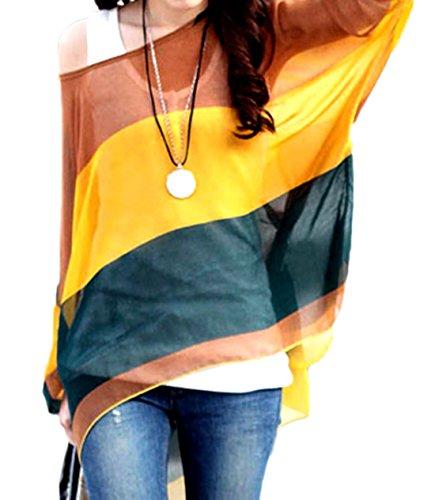 erdbeerloft - Basic Kaftan Tunika mit Streifen im Batwing Look, Größe One Size, Mehrfarbig (Streifen Kaftan)