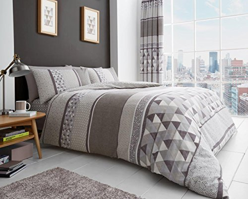 Gaveno Cavailia Luxury Madison Bed Set with Duvet Cover and Pillow Case, Polyester-Cotton, Natural, Double