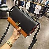 ZHANGJIA Minimalistische Tasche ranzen Tasche, Einer Tasche, umhängetasche, Handtasche, Farbe, Tasche, Kleine Tasche Packen,q Schwarz