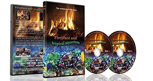 Fire And Tropical Fish   2 DVD Set 2016   Fireplace And Tropical Aquarium  2016