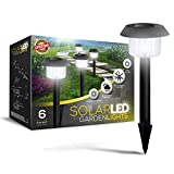 "Ultra-Bright 15 Lumen Solar Garden Lights ""Lifetime Replacement Guarantee"" - Perfect Neutral Design; Makes Garden Pathways & Flower Beds Look Great; Easy NO-WIRE Installation; All-Weather/Water-Resistant!"
