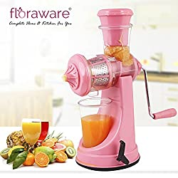 Floraware Plastic Fruit and Vegetable Juicer, Pink