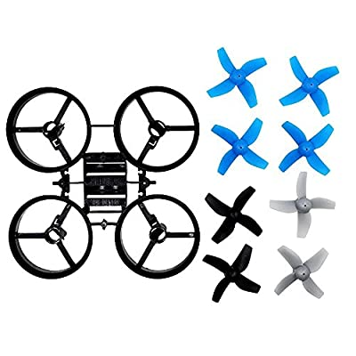 BTG Propellers Props with Frame for JJRC H36 Eachine E010 and Blade Inductrix Micro Drone Spare Parts