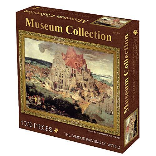 XYDESIGN Weltberühmte Gemälde 1000 Puzzles Star Papier Spielzeug Geschenk Puzzle 70 * 50cm Babylon-Turm