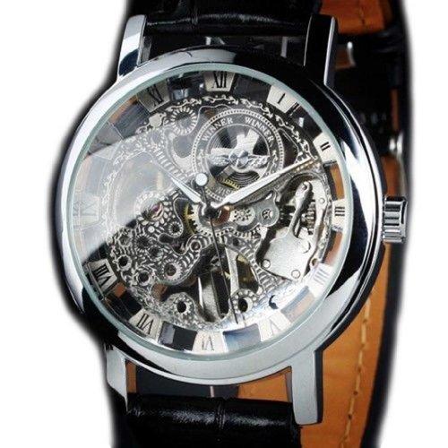 Danai Steampunk - Reloj mecánico para Hombre, diseño Suizo, Color Plateado