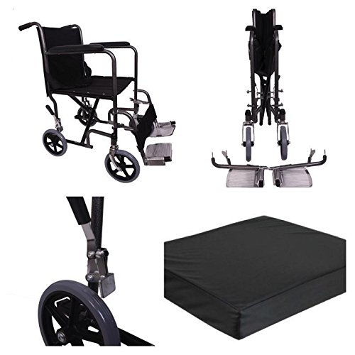 Angel Mobility Lightweight Folding Transit Transfer Travel Portable Wheelchair (AMW0011)