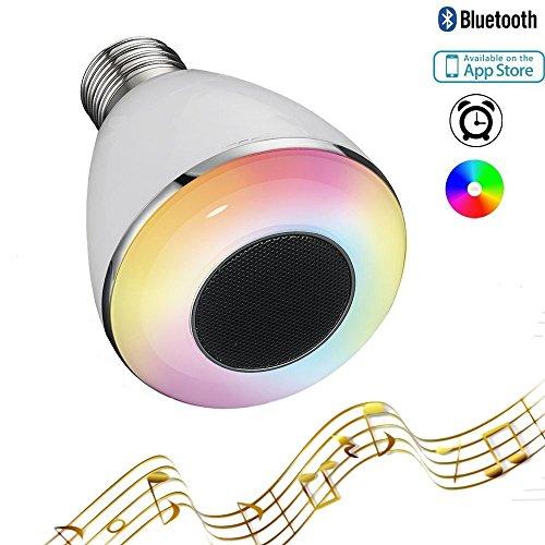 RAYWAY Bluetooth 4.0 Smart-App Ampoule led Standard Culot E27 avec Haut Parleur, Smart Bulb en Lumiere Colore Dimmable et Enceinte Bluetooth pour Salle de Douche, Chambre, Bureau,Salle de bain