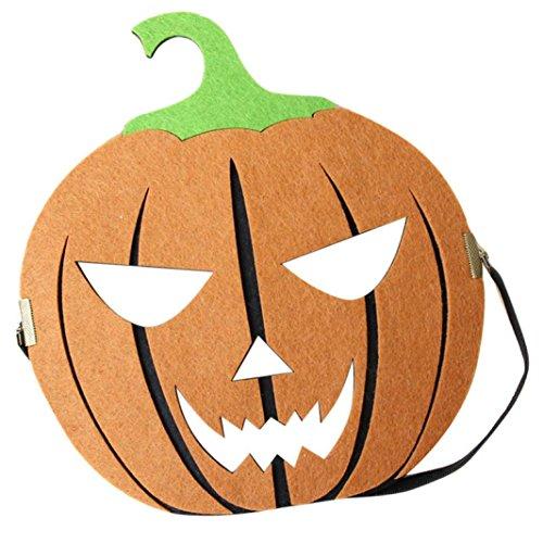 Für Party Mädchen Kostüme Halloween Stadt (WOCACHI Party Masken reizvolles elegante geheimnisvolle Halloween Kürbismuster Gesichtsmaske für Maskerade Ball Karneval Fantasie)