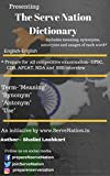 #9: The Serve Nation Dictionary: Build vocabulary for UPSC/ Defence Exams-NDA, CDS, AFCAT