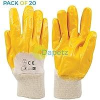 Daptez® 20x apertura posteriore in metallo e guanti in nitrile per lavori pesanti, gestione