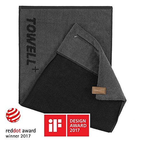 STRYVE Towell V2 + Serviette de bain avec poche et clip magnétique, 7 couleurs, sept couleurs -...