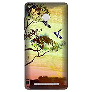 Digi Fashion Premium Back Cover with direct sublimation printing for Xiaomi Redmi 3S