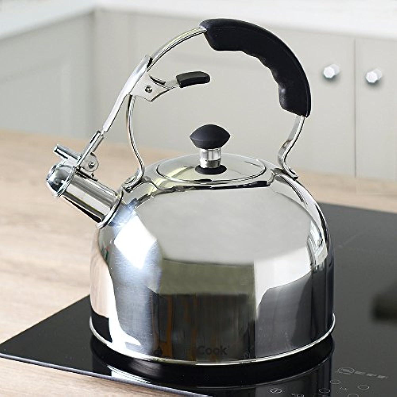 ProCook Bouilloire sifflante pour cuisin/ère Compatible Induction 2/l poign/ée Ergonomique Noire