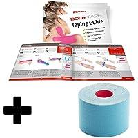 BodyTape | Kinesiologie Tape 5m x 5cm aus 97% Baumwolle | Taping-Guide + 1 Rolle | Farbe: blau | Atmungsaktiv... preisvergleich bei billige-tabletten.eu