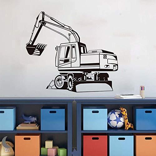 (Abnehmbare Big Digger Farm Mechanische Gliederung Wandaufkleber Transfer Aufkleber Fenster Tür Kinderzimmer Schablone Vinyl Wandbild Decor 58 * 66 cm)